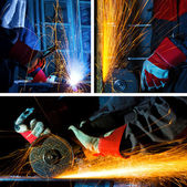 Solda e ferro conjunto de esmerilhamento — Foto Stock