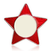Red star metal sign — Stock Photo