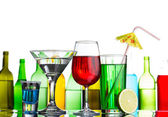 Different alcohol drinks and cocktails — Stock Photo