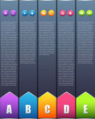 Vector Background Number Options Banner & Card — Wektor stockowy