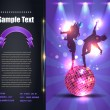 ストックベクタ: Party Brochure Flyer Vector Template