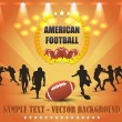 US-amerikanischer American-Football-Vektor-design — Stockvektor