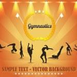 Gymnastics Shield Vector Background — Stock Vector