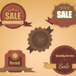 Retro Labels Vector Design Vintage Autumn Colors — Stockvektor