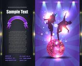Parti broşür el ilanı vektör şablonu — Stok Vektör