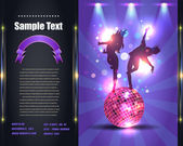 Party Brochure Flyer Vector Template — Cтоковый вектор