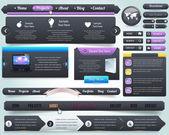 Elementy www wektor wzór zestaw — Wektor stockowy