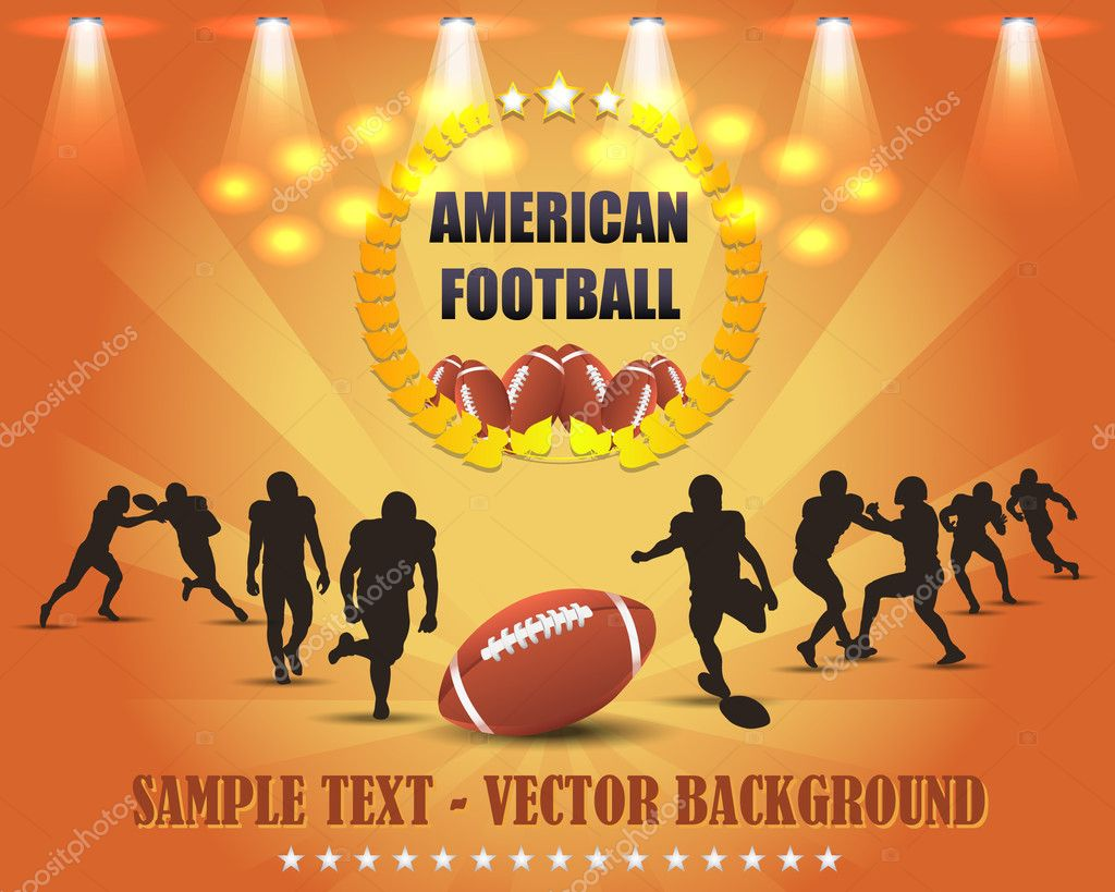 Vector american football — Stock Vector #12363592
