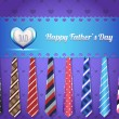 Happy Father's Day Vector Design — Vettoriale Stock #12389211