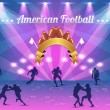 American Football Shield Vector Design — Image vectorielle