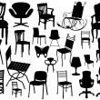 Vector Chair Set — Stock Vector