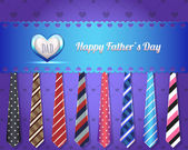 Happy Father's Day Vector Design — Cтоковый вектор