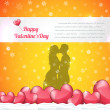 Valentine Day background vector — Vektorgrafik