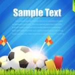 Football Background Template Vector Design — Stock Vector #12415005
