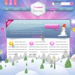 Stock Vector: Winter - Christmas Website Design Vector Elements