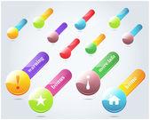 Insieme di elementi di vettore pulsante banner web — Vettoriale Stock