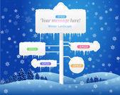 Winter Landscape Vector — Stock Vector