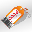 Price label — Stock Vector