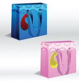 Gift bag — Stock Vector