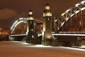 император петр великий мост — Стоковое фото