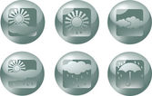 Vector icon weather, button — Stock Vector