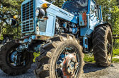 Communist Tractor — Stock Photo