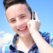Teenager talkin on cell — Stock Photo #11417639