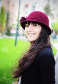 Femme dans le parc — Photo