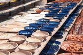 Greek pottery shop — Stock Photo