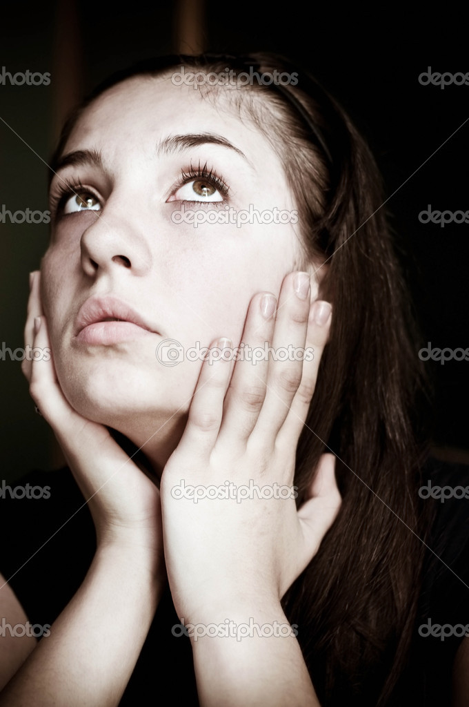 Desperate woman — Stock Photo #11417457