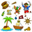 Pirate collection - Stock Vector