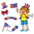4th of july set — Stock Vector #11418637
