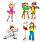 Kids with hobbies — Stock Vector #11418762