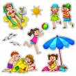 Kids in summer — Stock Vector