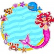 Sea life frame — Stock Vector #11418964