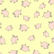 Piggy pattern — Stock Vector