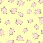 Piggy pattern — Stock Vector