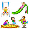 Playing kids - Image vectorielle