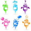Robots collection — Stock Vector