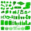 Stock Vector: Supermarket icons