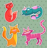 漫画猫 — ストックベクタ