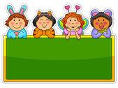 Playful kids — Stock Vector