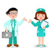 医師や看護師 — ストックベクタ