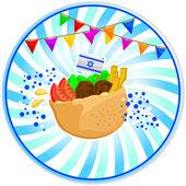 Falafel in pita — Stock Vector