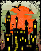 Haunted castle — Stock Vector