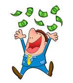 Rain of money — Stock Vector