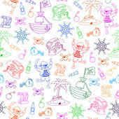 Pirates pattern — Stock Vector