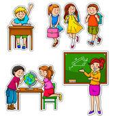 Okul çocukları — Stok Vektör