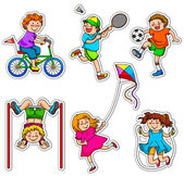 Active kids — Stock Vector