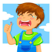 Crying kid — Stock Vector